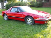 1989 Buick Reatta Red Coupe
