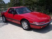 1990 Buick Reatta Red Coupe